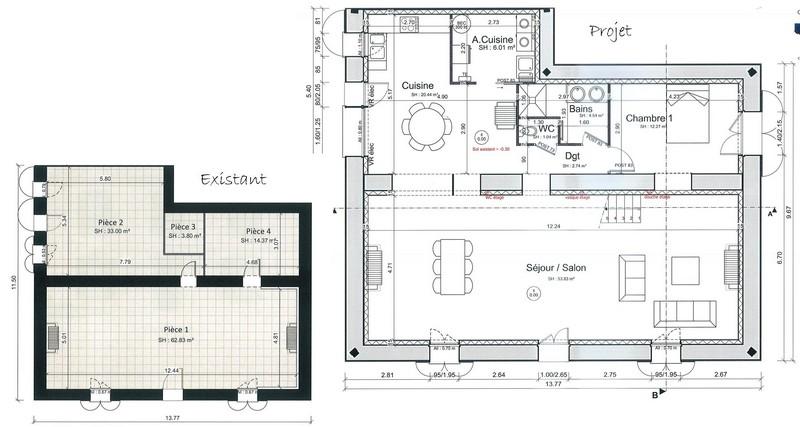 R novation d 39 une maison de famille nalliers vend e for Plans de maison de famille